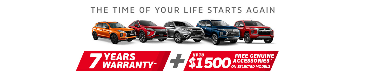 Mitsubishi time of your life banner