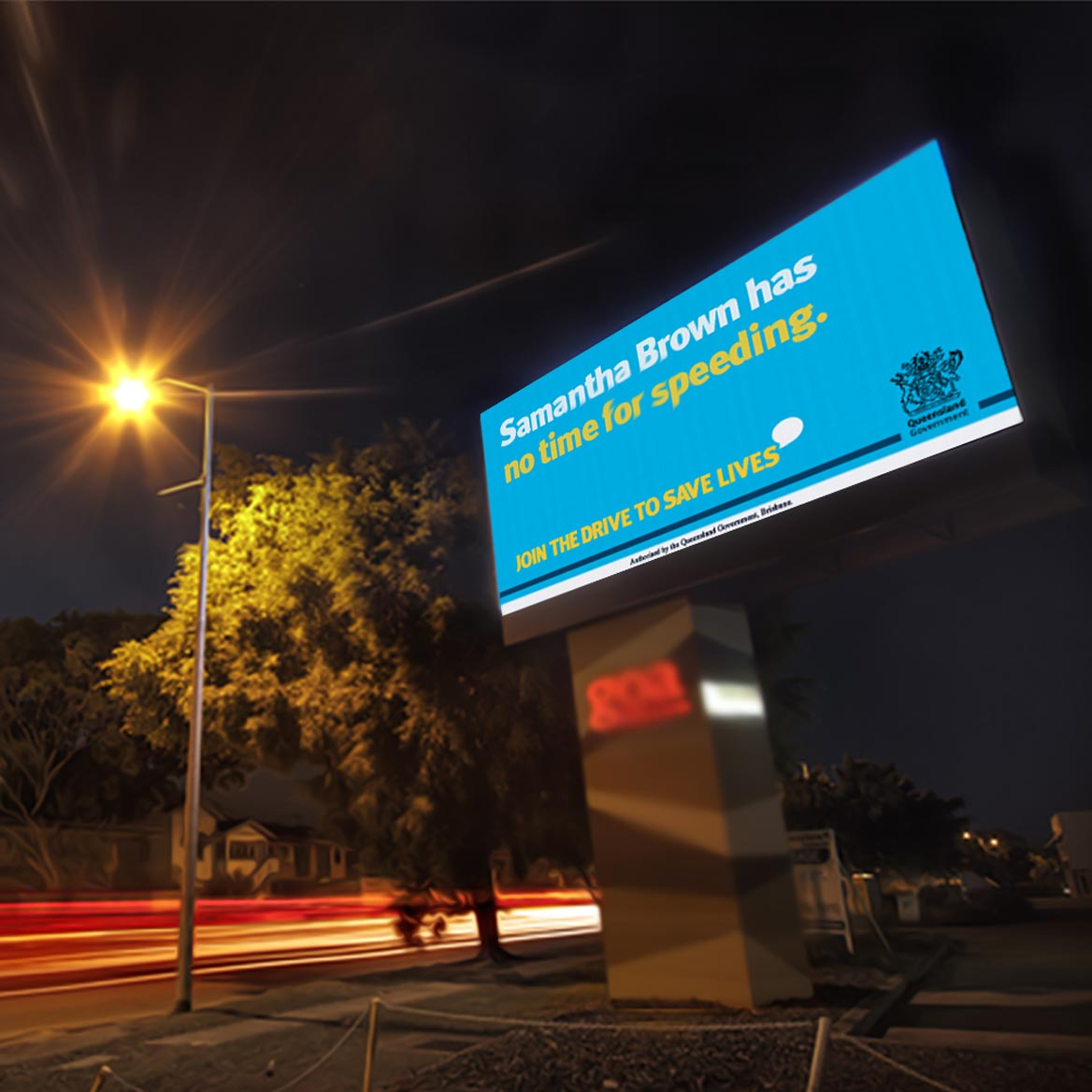 Billboard display user submitted support to Join the Drive