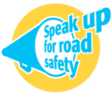 Speak up for road safety logo