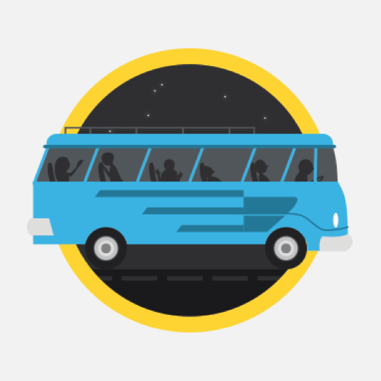 Illustration style image of a bus