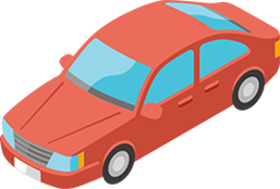 Animation style graphic of a car.