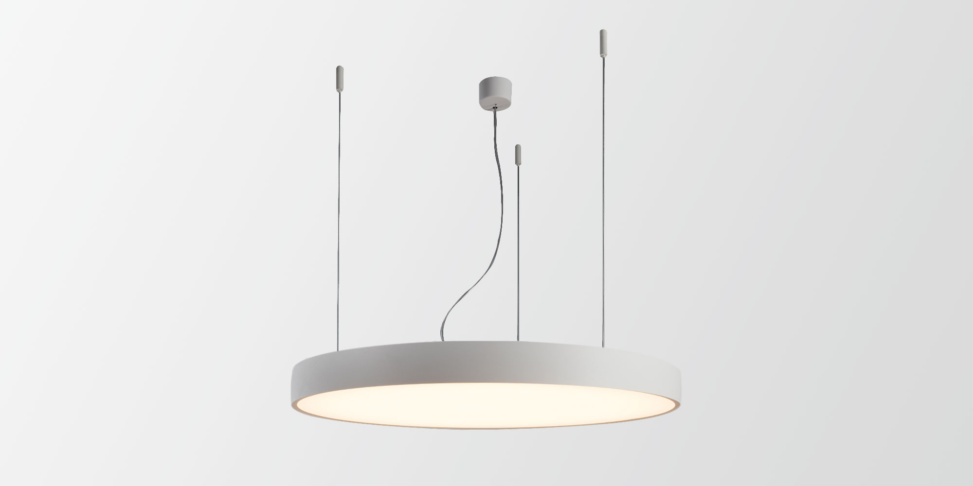 contemporary architectural projects love a minimalist slim lighting design flat moon is a stylish reduced height fixture 78 mm that distributes a soft - Suspension Design Led