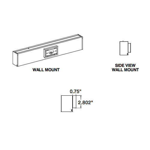 Pursuit wall mount line drawing