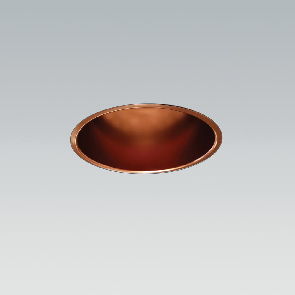 Soft 70 colour polished copper trimless fixed product hero