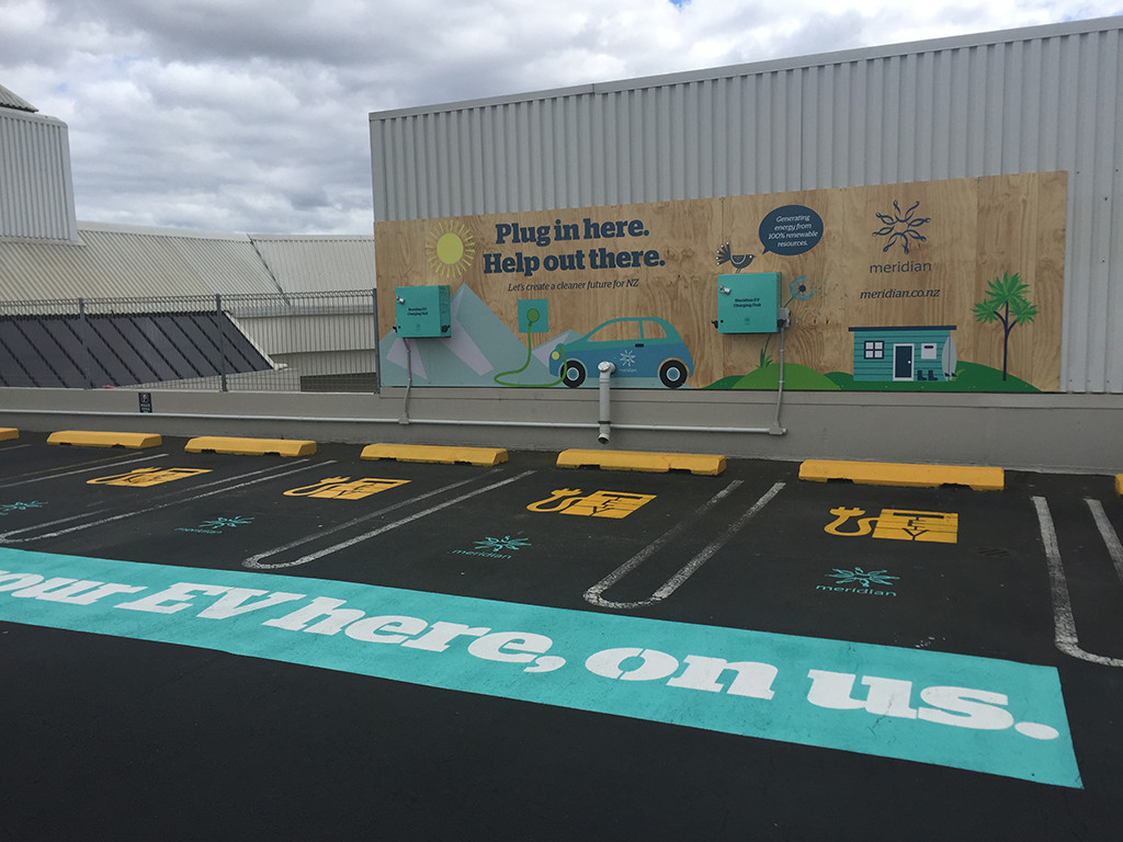 Electric charging spaces