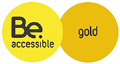 Be accessible gold logo for Centre Place