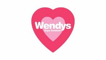 Wendys Supa Sundaes logo