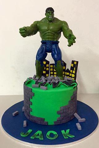 Phenomenal Incredible Hulk Cake In The Cove Personalised Birthday Cards Veneteletsinfo