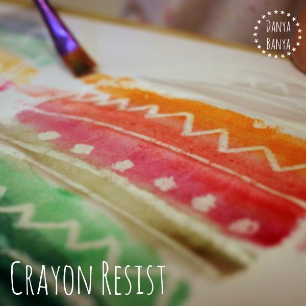Crayon resist