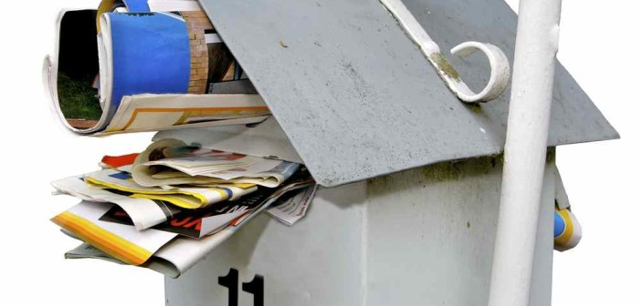 No junk mail full letterbox