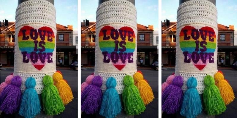 lane cove week yarn bomb love is love