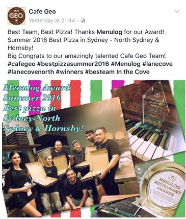 cafe geo award