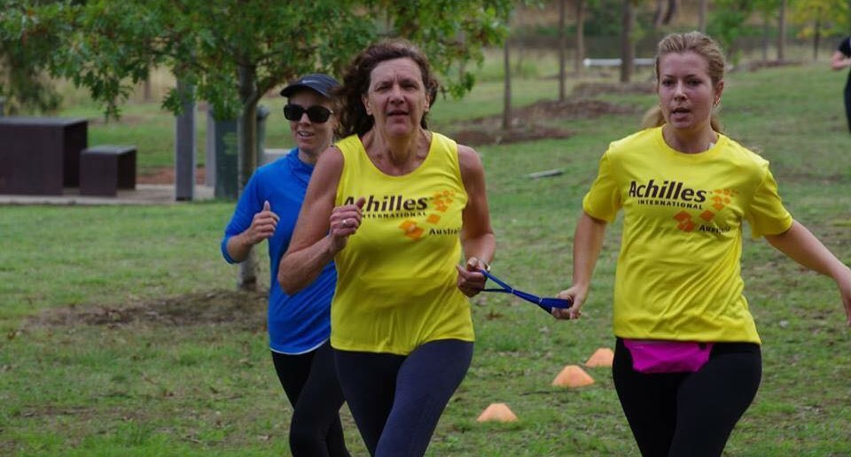 Liz McLarnen is pictured completing her 99th parkrun with Achilles Canberra last Saturday. We believe Liz will be the first VI person in the world who will reach 100 parkruns.