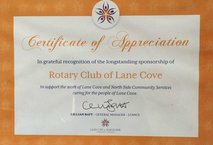 Lane Cove Rotary 1