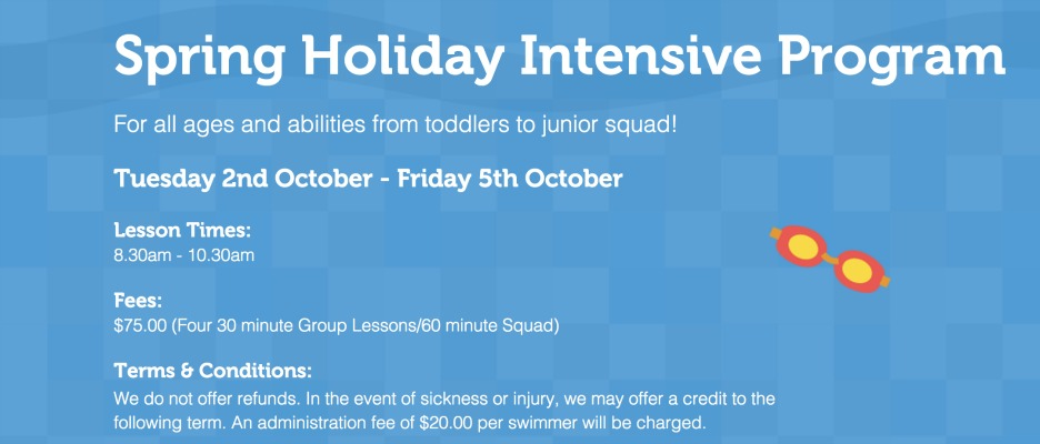 Brewer Swimming School Holiday Intensive Program - In the Cove