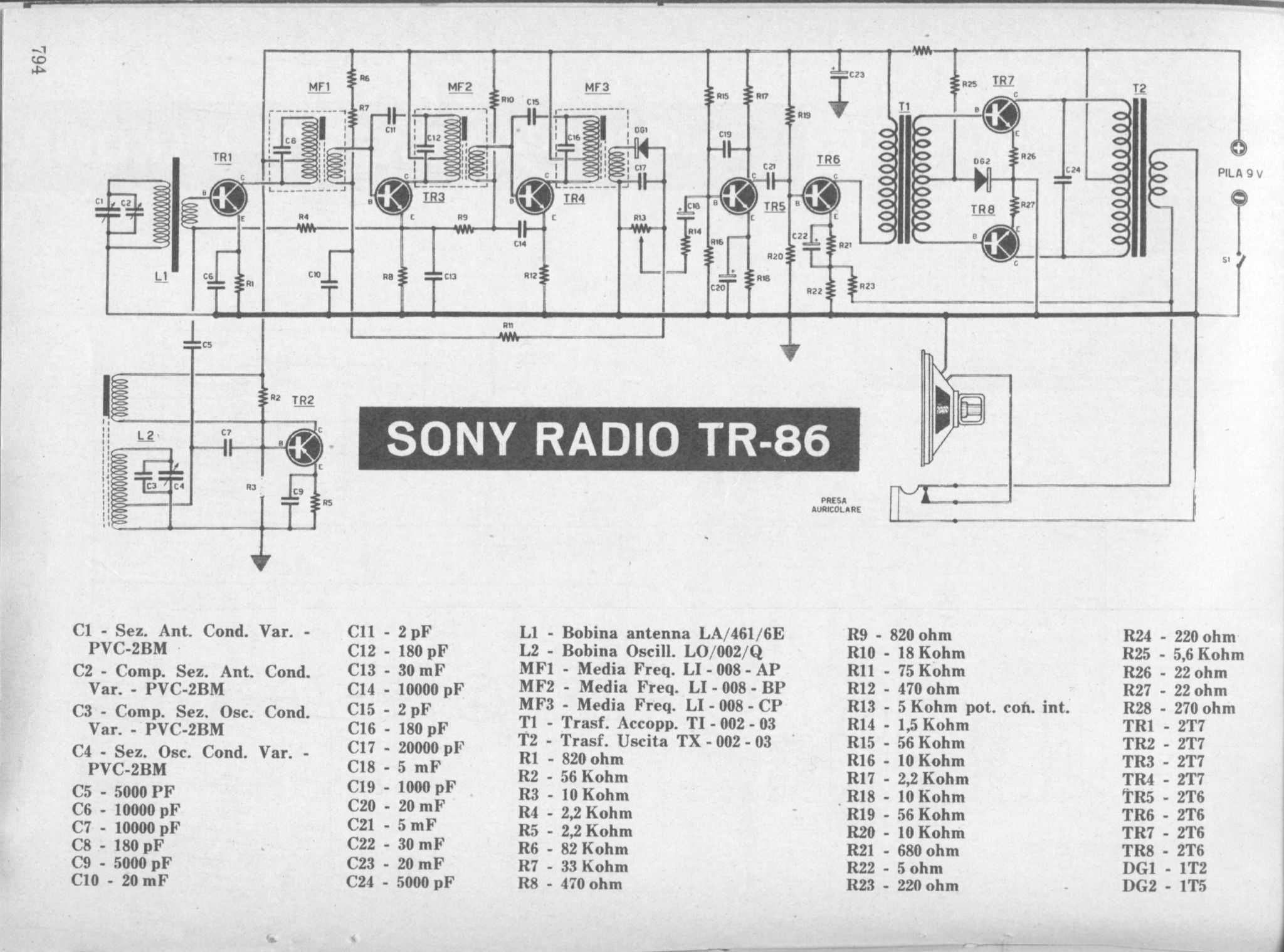 Sony Tr86 Push Pull Rx 470 Ohm Resistor Wiring Diagram Download Link The Radio Circuit