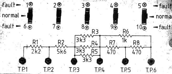 Resistor testing panel
