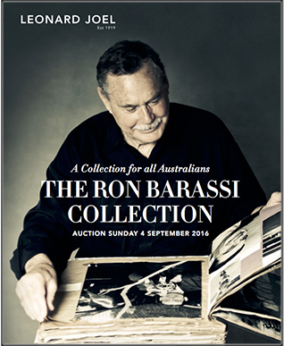The Ron Barassi Collection Auction