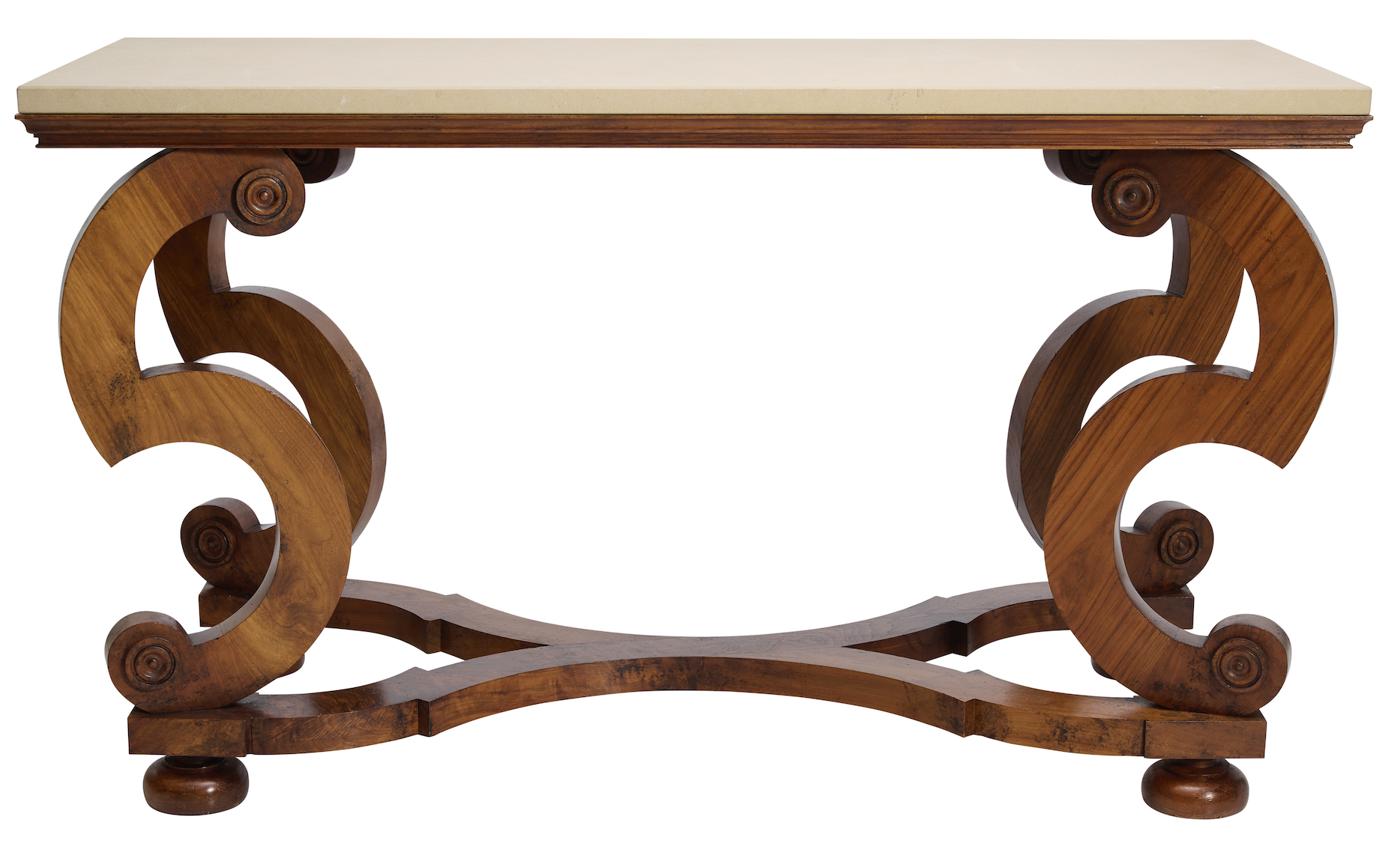 Stone Plate and Mahogany Console Table, Designed by Stuart Rattle, Made by Kim Moir Bespoke Furniture. Decorative Arts Auction Melbourne