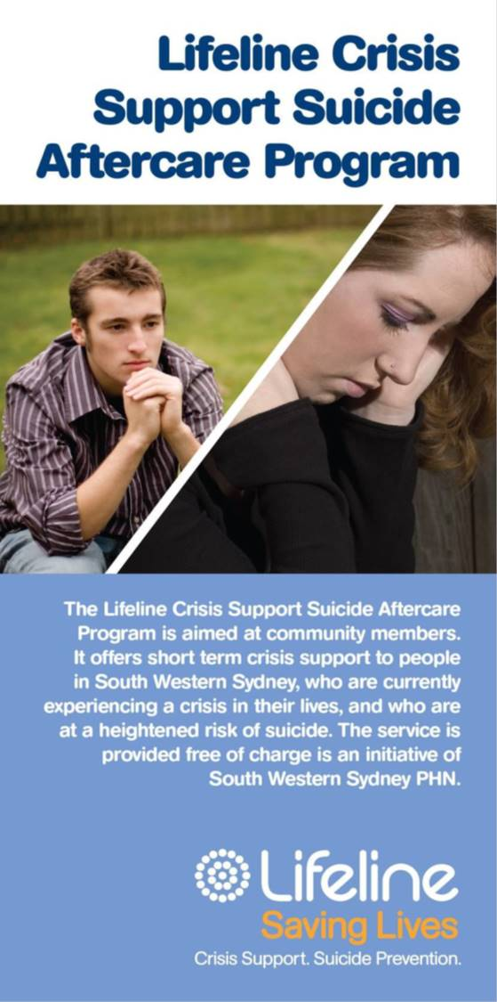 Lifeline Crisis Support Suicide Aftercare Program logo
