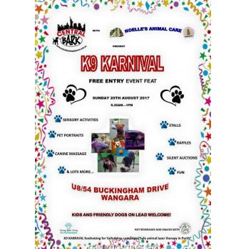 Free K9 Karnival - Sunday 20th August - Wangara, Perth