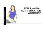 Event ANIMAL COMMUNICATION LEVEL 1 COURSE