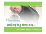 Events 'And My Dog Comes Too' FREE PUBLIC SESSION - 26 April