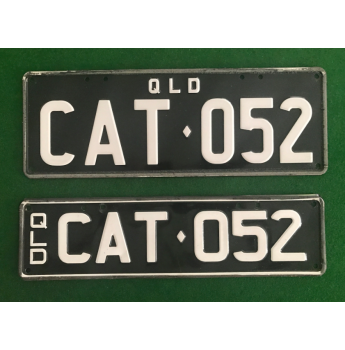 CAT Personalised Registration Plates