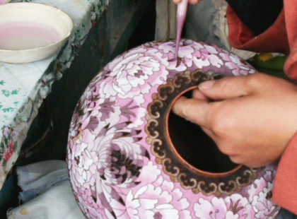 cremation urns being made