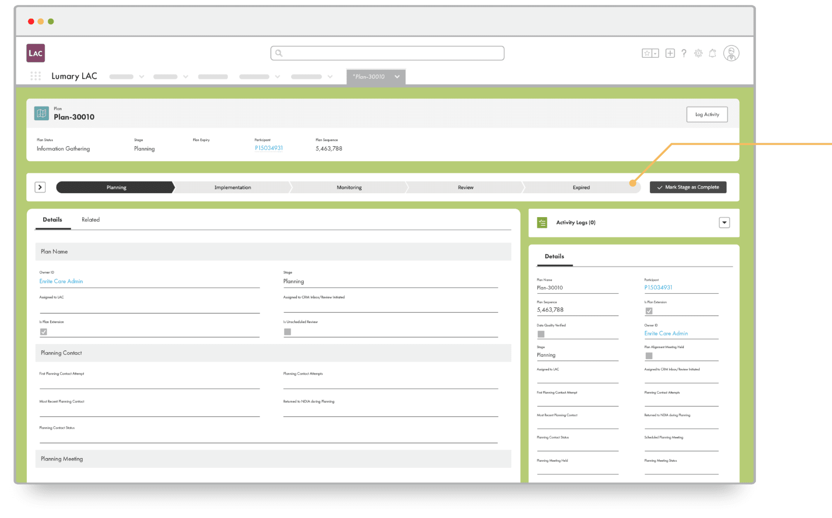 Local Area Coordinator screenshot