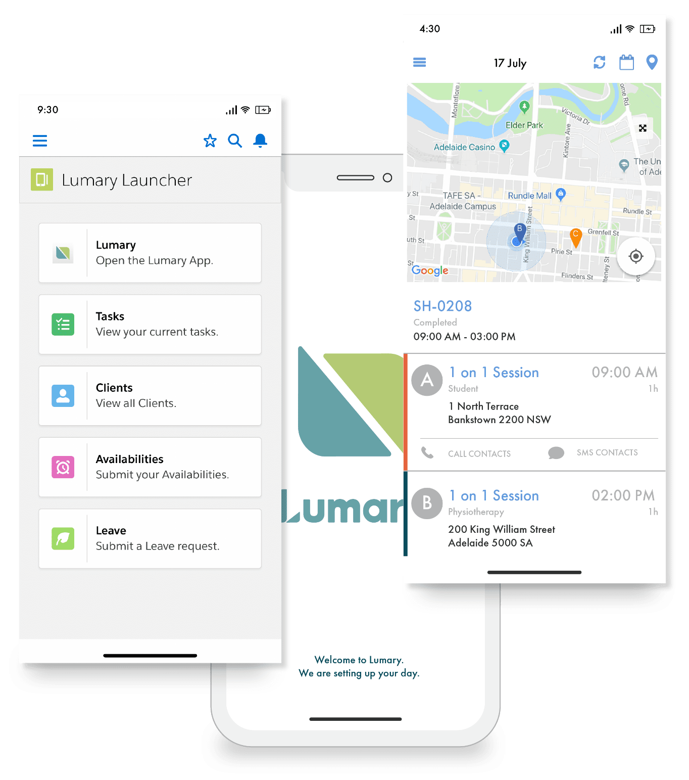 Lumary care management on mobile