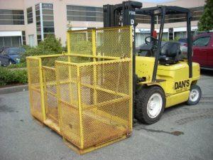 forklift cage basket