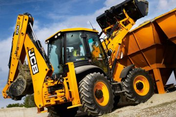 JCB Eco earth moving machinery back hoe loader