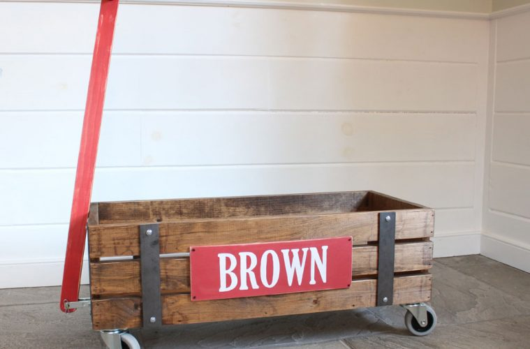 DIY vintage style wooden crate