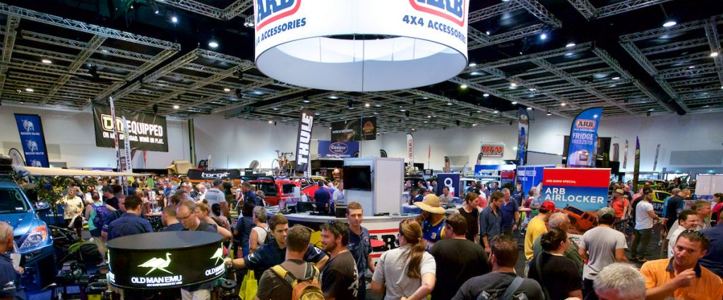 National 4x4 Outdoors Show inside view