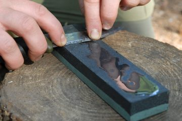 Using a sharpening stone