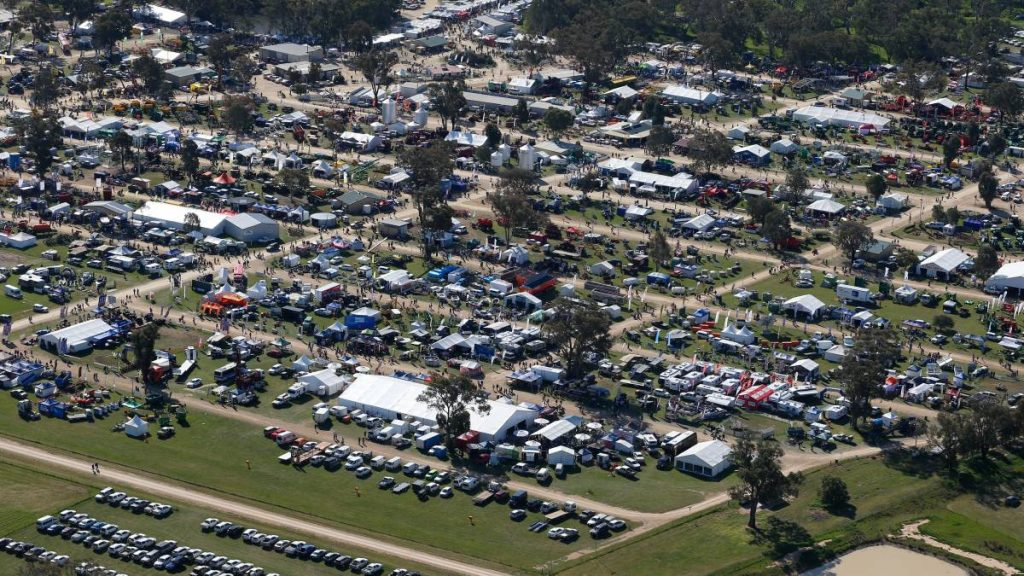 Henty Field Days from the sky