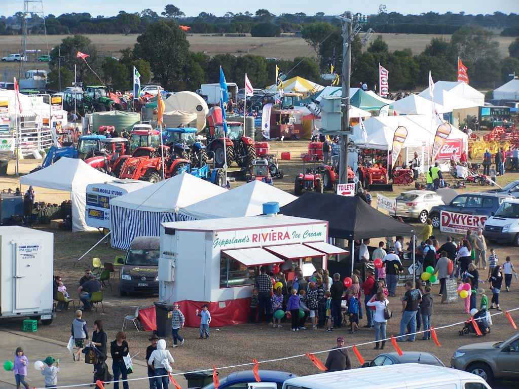 An ariel view of the East Gippsland Field Days