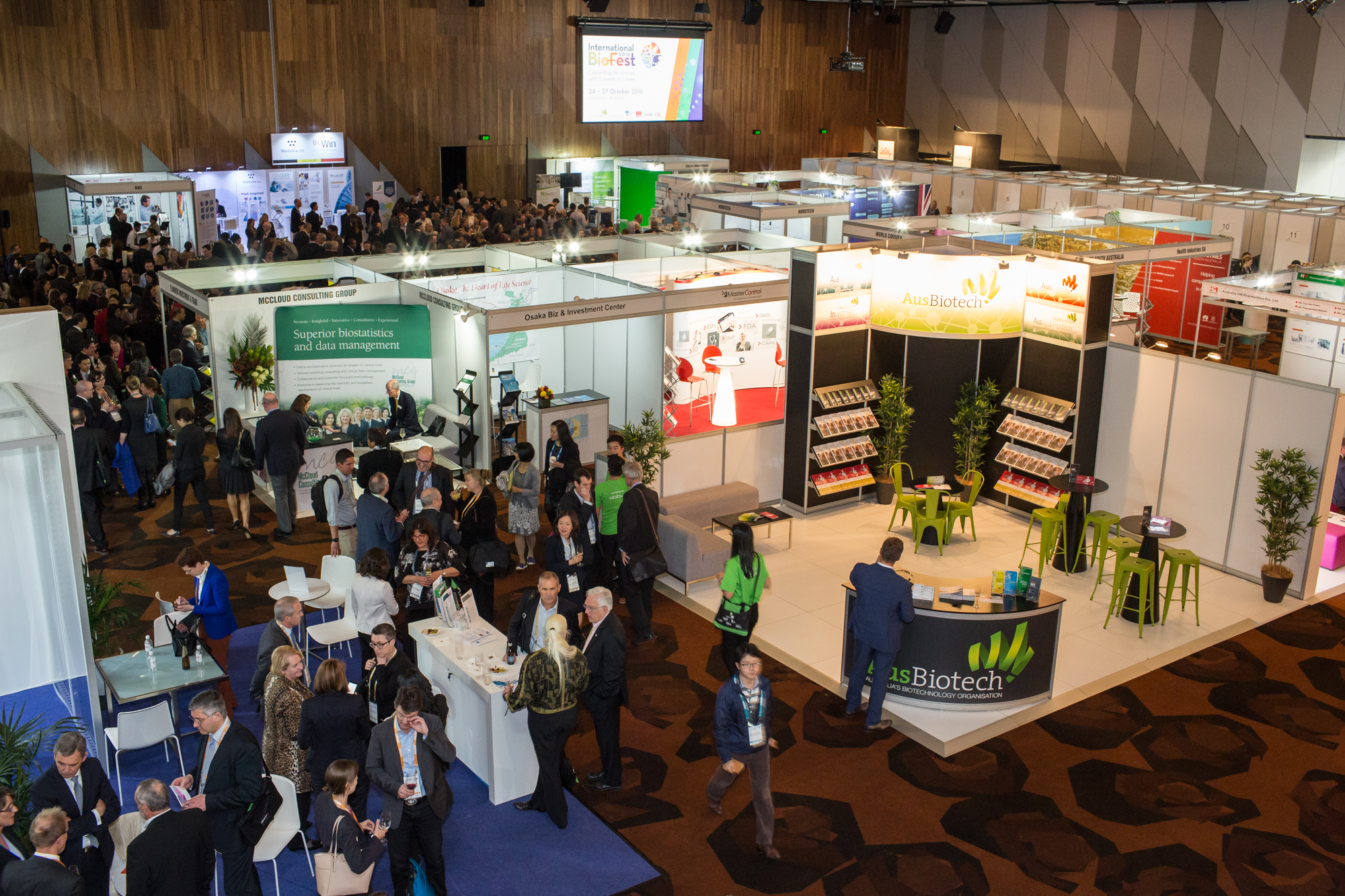 AusBiotech exhibition floor