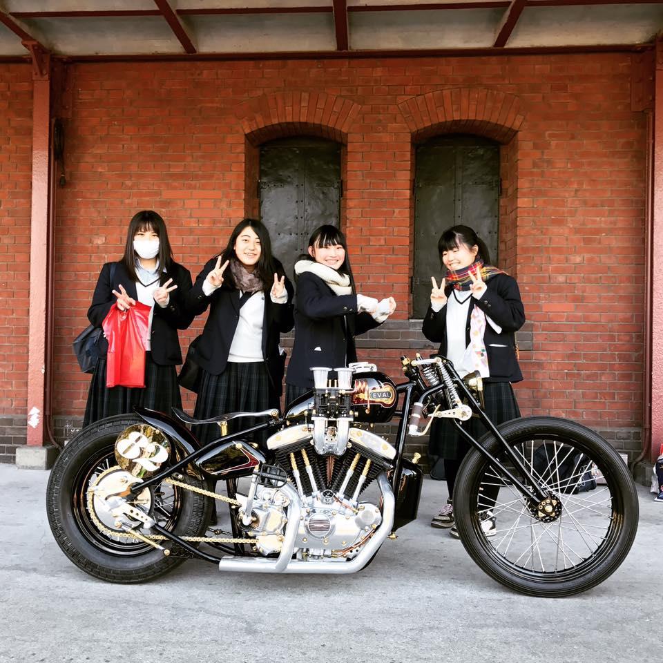 Eval Upheval Motorcycle Admired in Japan
