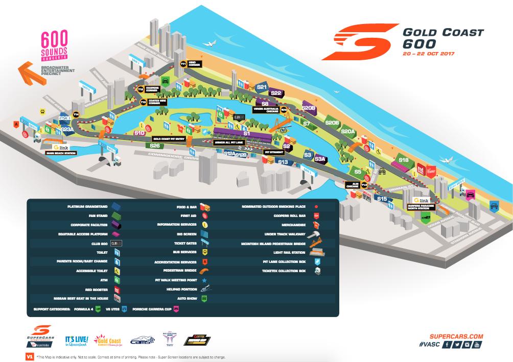 Gold Coast 600 Race Circuit Map