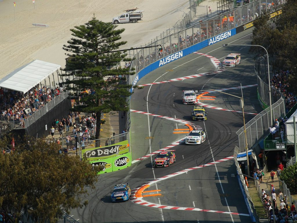 A snake bend in the GOld Coast 600 race circuit