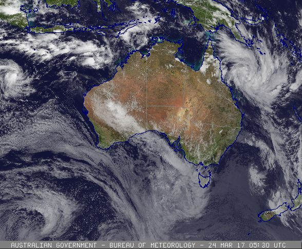 Tropical Cyclone Forming off the Coast of North Queensland