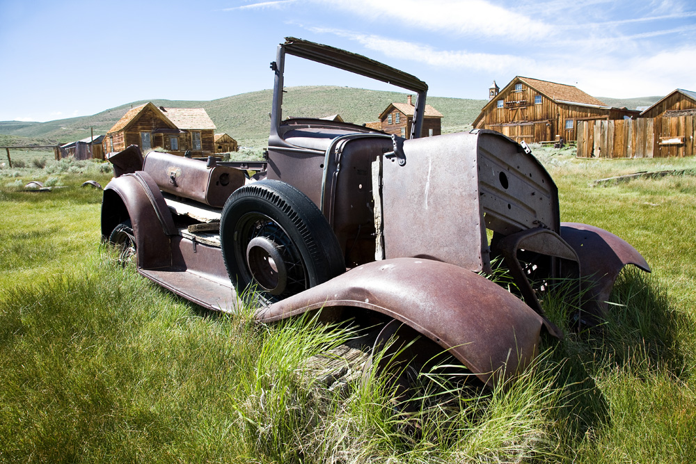 Old ford truck in field