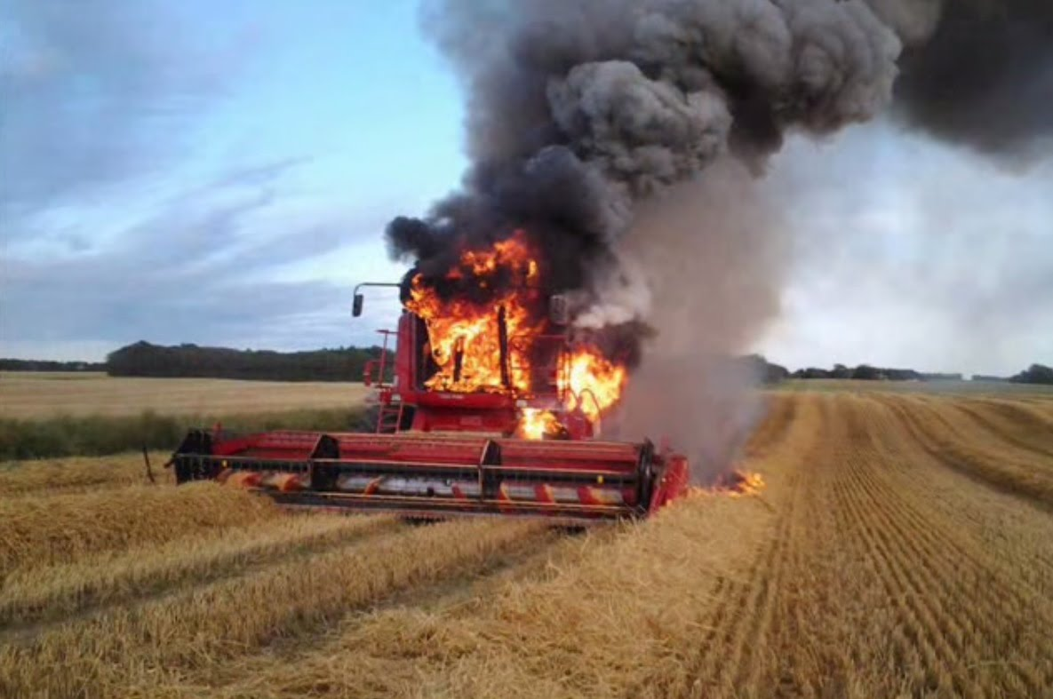 Harvester Fires: How They Start & How to Avoid Them
