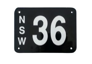 NSW 36 license plate