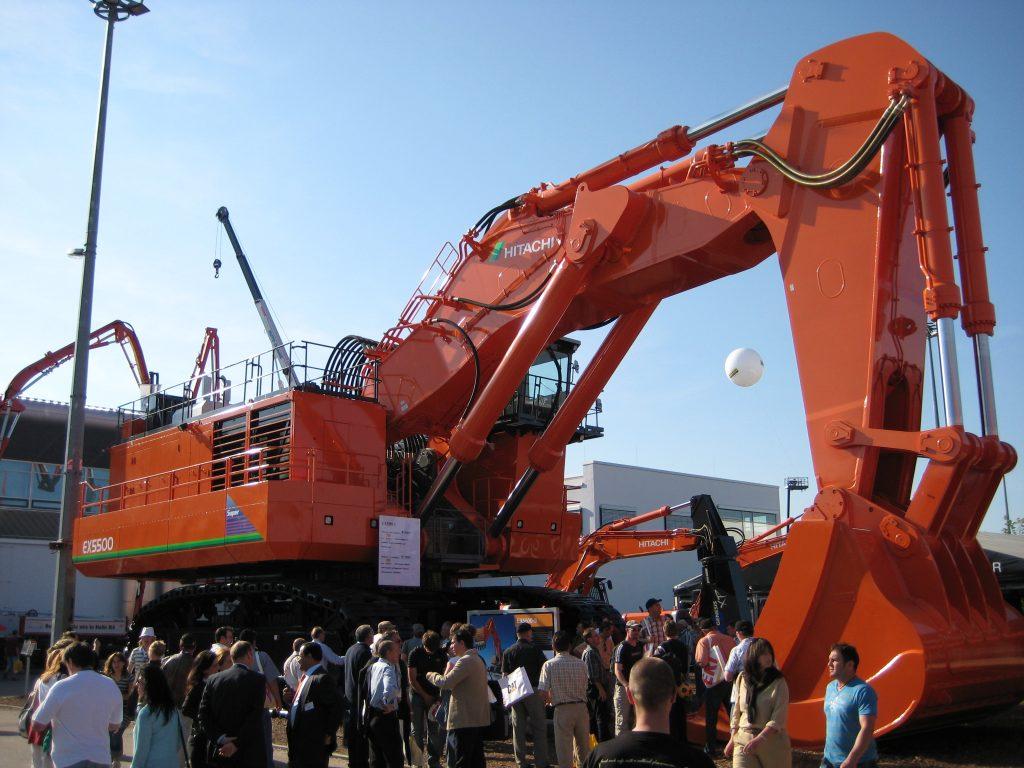 Hitachi EX5500 mining excavator