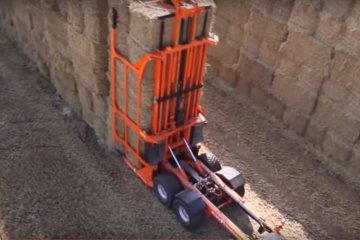 hay bale stacker