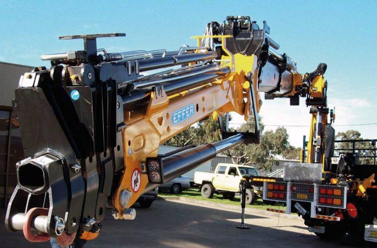 Effer truck mounted crane