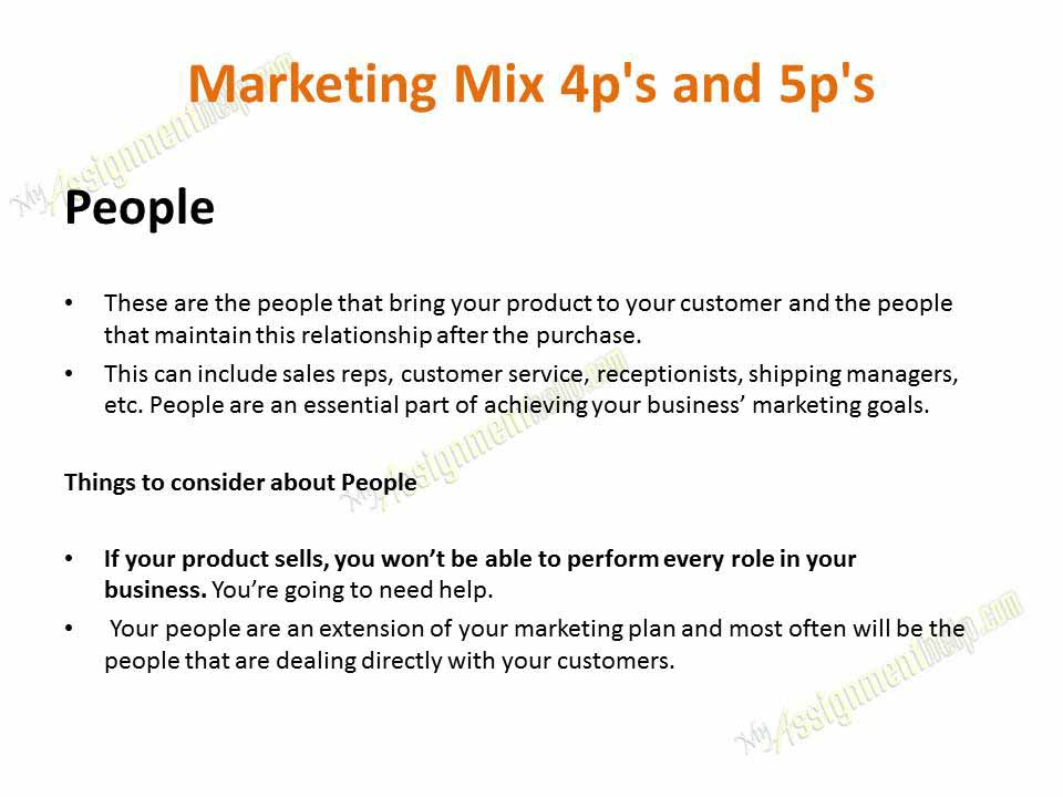 minor assignment marketing mix Learn how to use the marketing mix (often called the 4ps of marketing) to get the right combination of place, price, product, and promotion in your business.